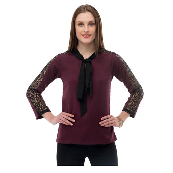 Karmic Vision (SKU000540) Women's Crepe Brown Casual Top