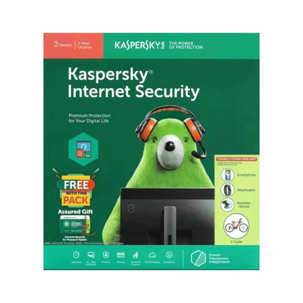 Kaspersky Internet Security 3 User 1 Year (3CD)