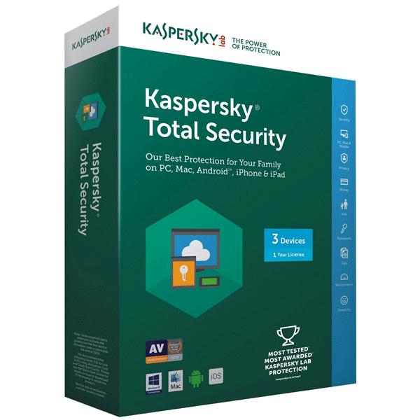 Kaspersky Total Security- 3 Users, 1 Year (1CD)