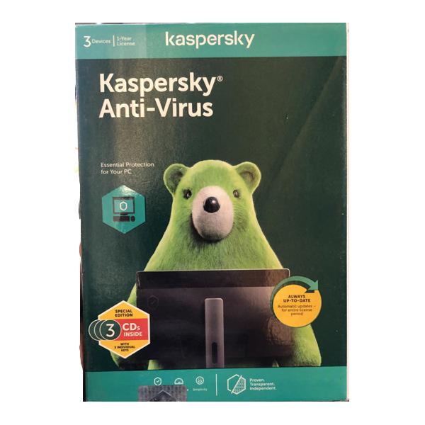 Kaspersky Antivirus 3 User 1 Year (3CD/3 Keys)