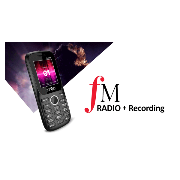 """KYTES HAWK Dual Sim/FM Radio/1.8""""/MP3 Player/SOS Function (Mix Colour)"""