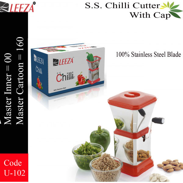 Leeza Stainless Steel Chilli Cutter With Cap