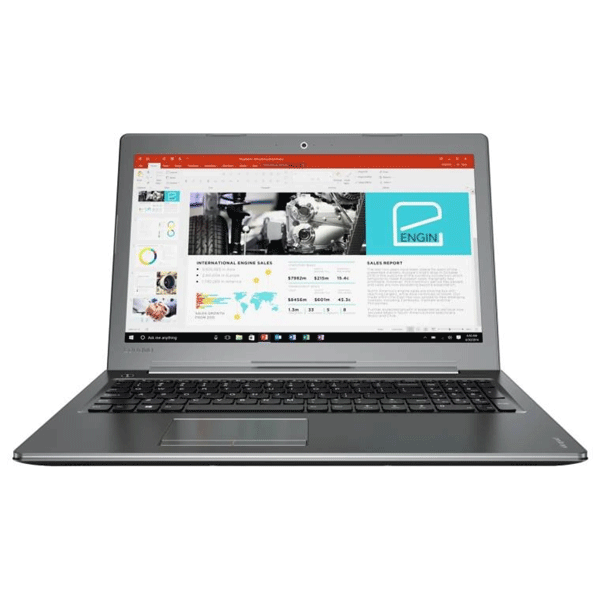 Lenovo Ideapad 510 (80SV00Y1IH) Core i7 -7th Gen/ 12 GB RAM/ 2 TB HDD/ 39.6 cm (15.6 inch) Win 10 MS office home Black
