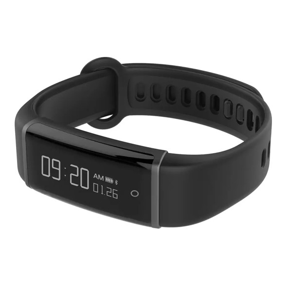 Lenovo (HX03) Cardio Smartband (Black Strap, Size Regular)