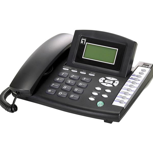 LevelOne- VOI-7100, SIP PhoneTelephone w/ PoE, Black.