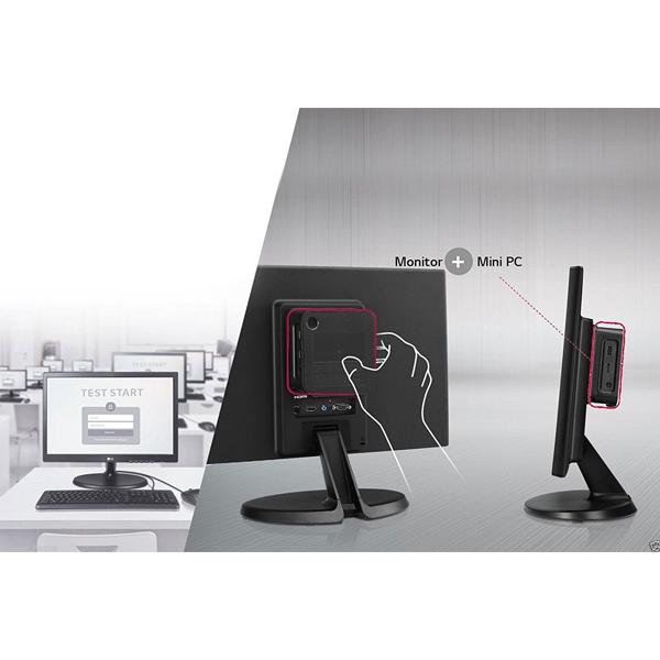LG 19CH300A All-in-One Desktop (Atom Z8300/ 2GB RAM/ 32GB HDD/ 18.5 Inch Screen/ Windows 10 Home/ Integrated Graphics), Black,1 Year Warranty