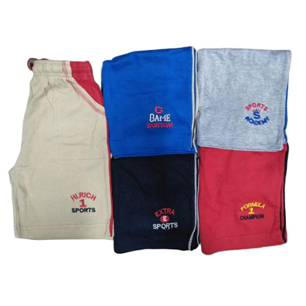 Lilli Kids Shorts for Boys Cotton Bermuda Fit Elasticated Slip On Half Pant Multicolor