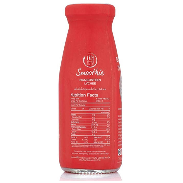 Lily Fresh - Imported Mangosteen Lychee Mulberry Juice - 180 ml