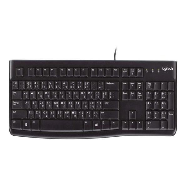 Logitech K120 Hindi Wired Keyboard ,(Black)