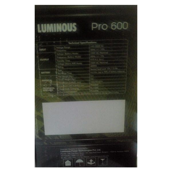 Luminous PRO 600VA UPS (Black)