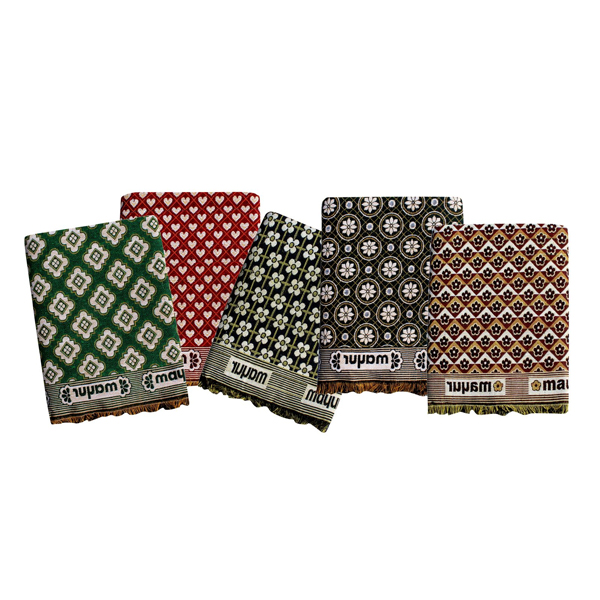 Mandhania (MCS01) MayurPankh Solapur Chaddar 100% Cotton Dailyuse Single Bed Blanket (Assorted Design and Color )