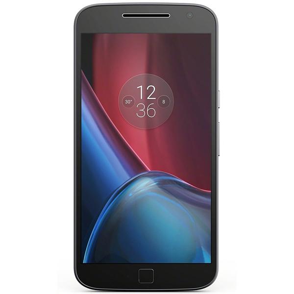 Motorola - Moto G 4 Plus Mobile, 4th Gen, 16 GB, Black, 1 Year Warranty