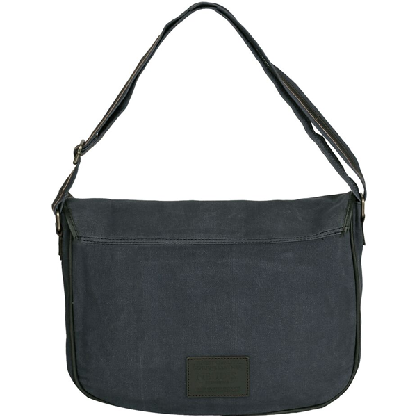 NEUDIS - LAPTOP2ACHIEVE, Genuine Leather & Recycled Stone Washed Canvas Spacious Laptop Messanger Bag - Dream Dare Achieve - Blue
