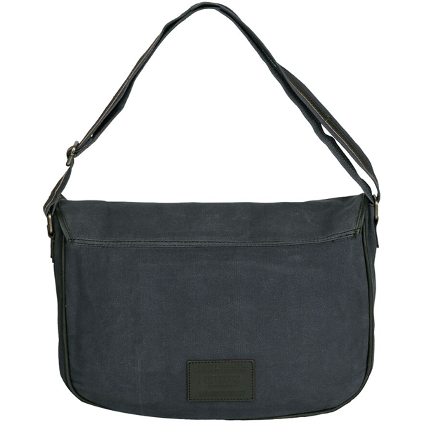 NEUDIS - LAPTOP2ORIGINAL, Genuine Leather & Recycled Stone Washed Canvas Spacious Laptop Messanger Bag - Original - Blue