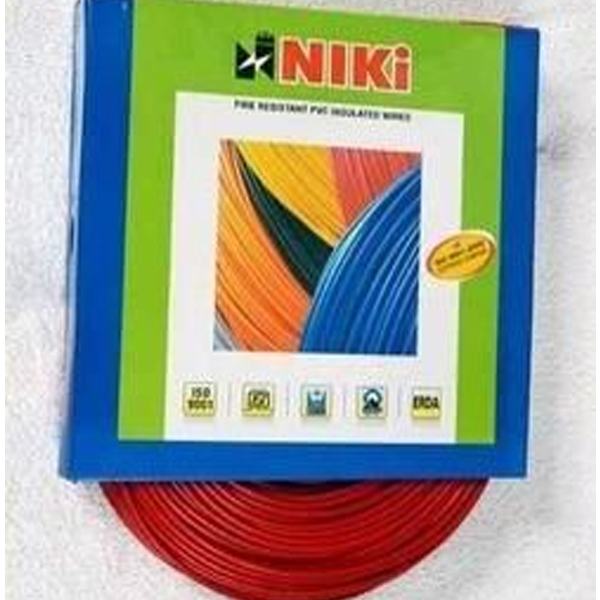 Niki- 0.5(16/20) SQmm FR Insulated Three Core PVC Cable (Red)