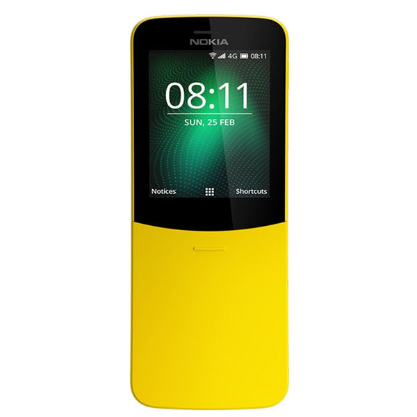 Nokia 8110 (512 MB RAM/ 4G Dual SIM/ 2.45 inch Screen) Mix Colour