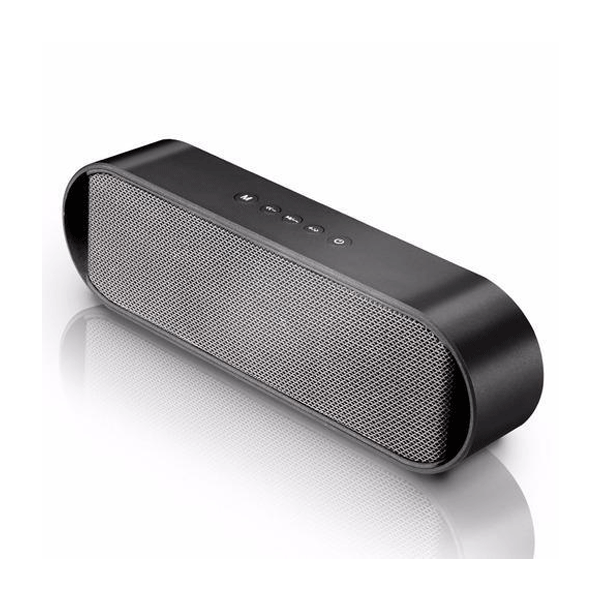Pebble 8W Groove Slide Bluetooth Speaker(Black)