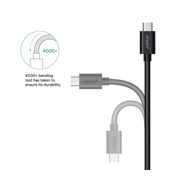 Pebble PBCM10 Micro USB Cable 3.2 Feet/1 Meter (Black)