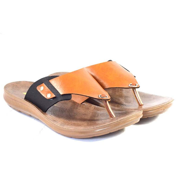 POKROK Men Pu Casual Slipper (voot7) Black, Brown, Tan