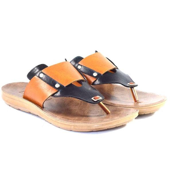 POKROK Men Pu Casual Slipper (voot8) Black, Brown, Tan