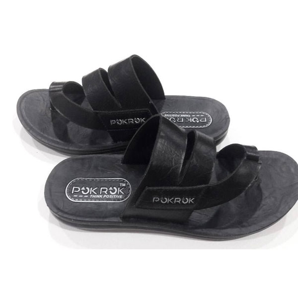 POKROK Men Pu Casual Slipper (voot13) Black