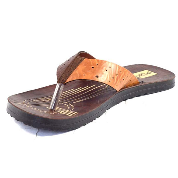 POKROK Men Pu Casual Slipper (instagram2) Tan, Brown