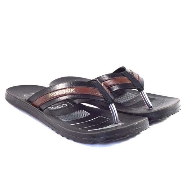 POKROK Men Pu Casual Slipper (instagram3) Black, Tan, Brown