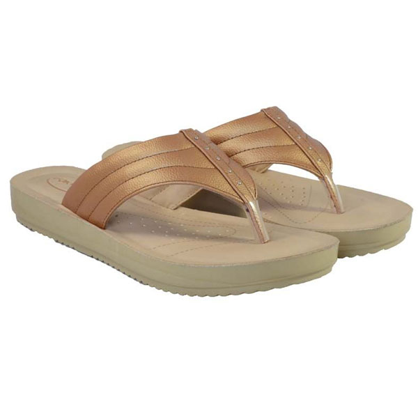 POKROK Women Pu Stylish Slippers (feps2) White, Golden, Skyblue, Navyblue