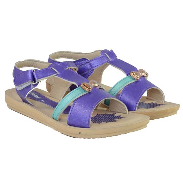 POKROK Women Pu Stylish Sandal (tictoe2) Ten, Skyblue, Navyblue