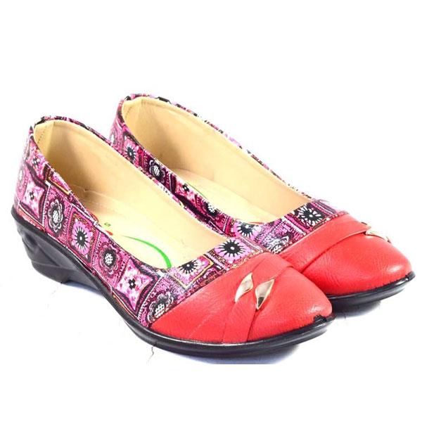 POKROK Women Pu Stylish Belly Shoes (getset1) Brown, Red, Tan