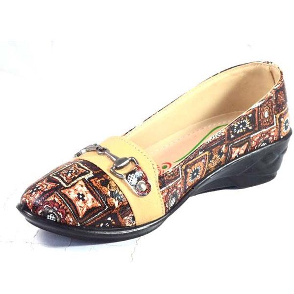 POKROK Women Pu Stylish Belly Shoes (getset4) Black, Tan