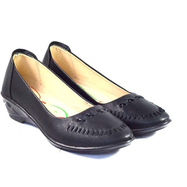 POKROK Women Pu Stylish Belly Shoes (getset5) Black
