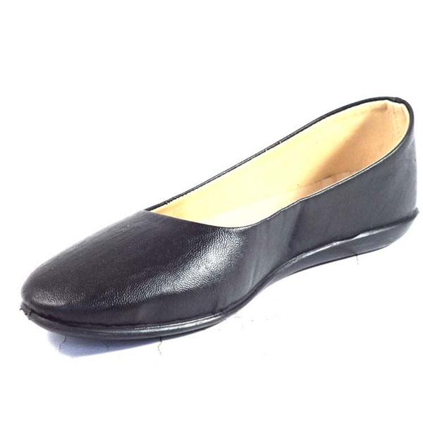 POKROK Women Pu Stylish Belly Shoes (Flites) Black