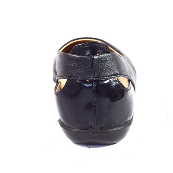 POKROK Women Pu Stylish Belly Shoes (number1) Black