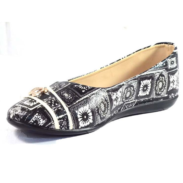 POKROK Women Pu Stylish Belly Shoes (number3) Black