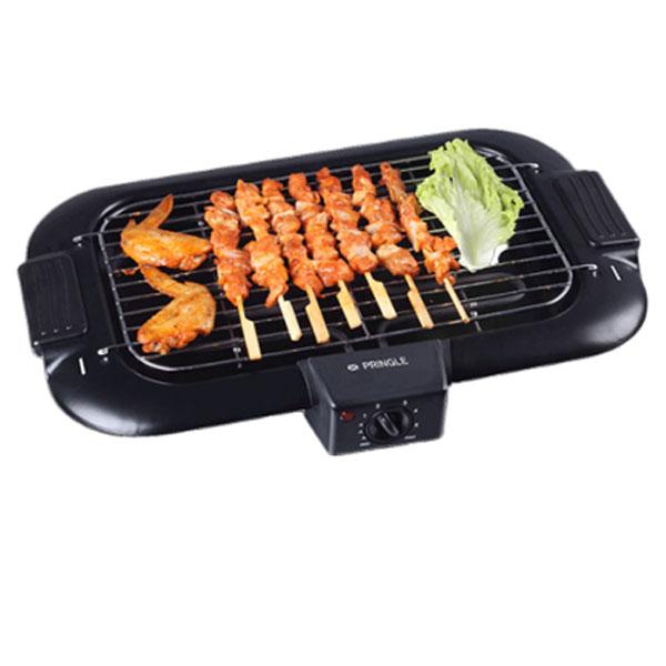 Pringle Steel Barbeque Grill Oven Smoke Free 2000 Watt Black