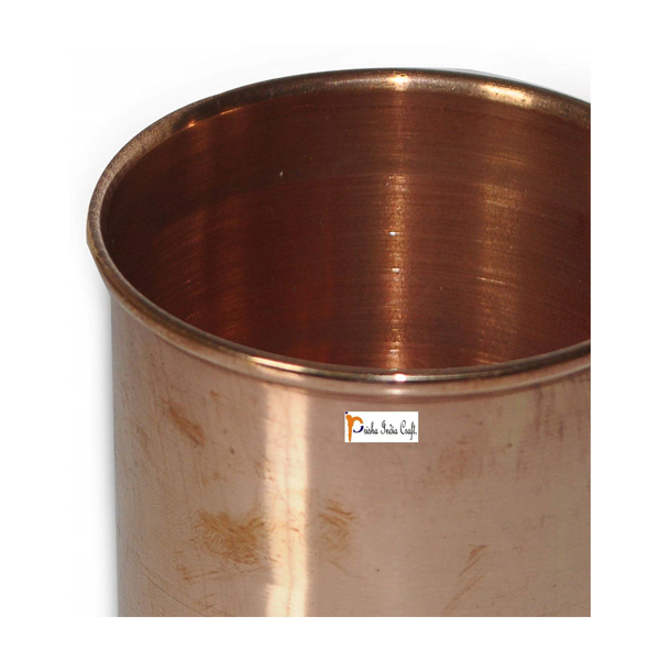 Prisha India Craft Glass012-1 Pure Copper Glass Cup for Water/ Capacity 320 ML
