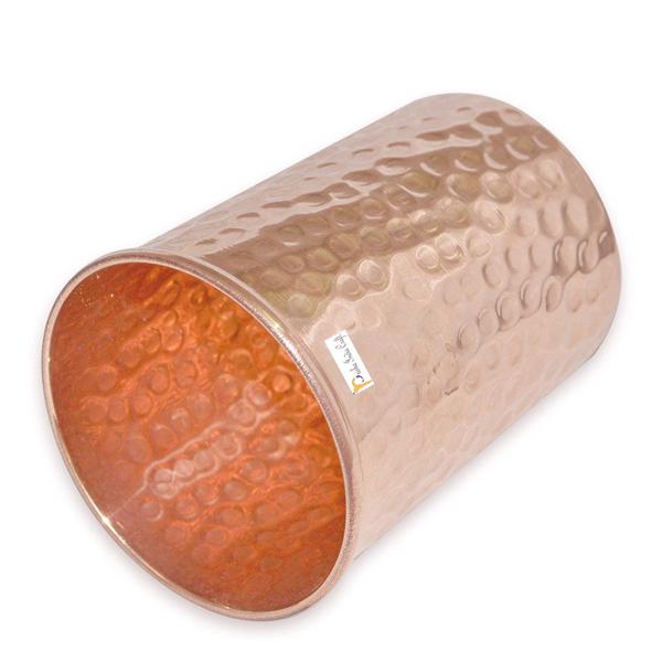 Prisha India Craft Glass021-1 Copper Cup Water Tumbler - Handmade Water Glasses/ Capacity 250 ML