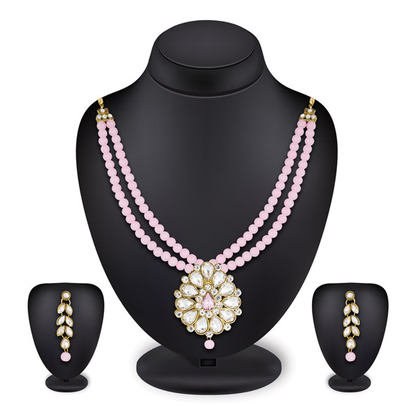 Profuzon Marketing Women's Beads Necklace Set(Green,White,Red,Pink,Black)