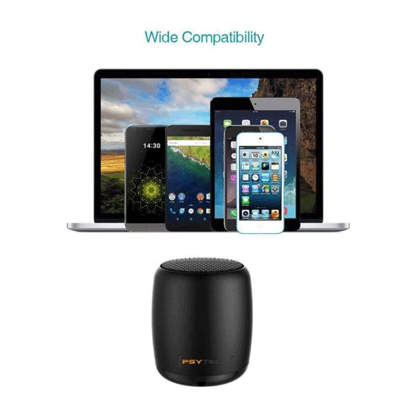 Psytech Mini Boost Wireless Speakers,3 W Bluetooth Speaker (Black)