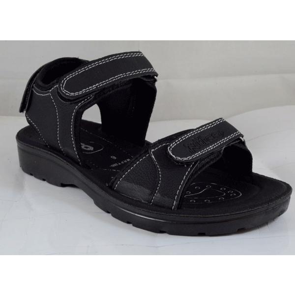 PU Hills Size 6 To 9 Men Sandal Black