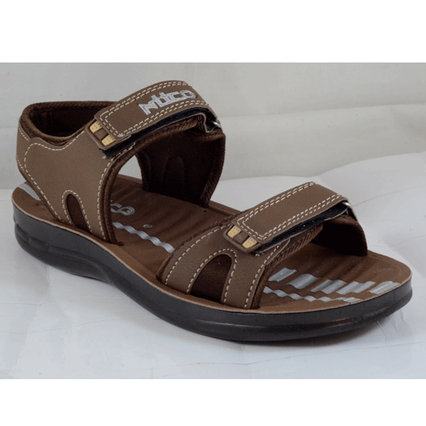 PU Hills Size 6 To 9 Men Sandal Brown