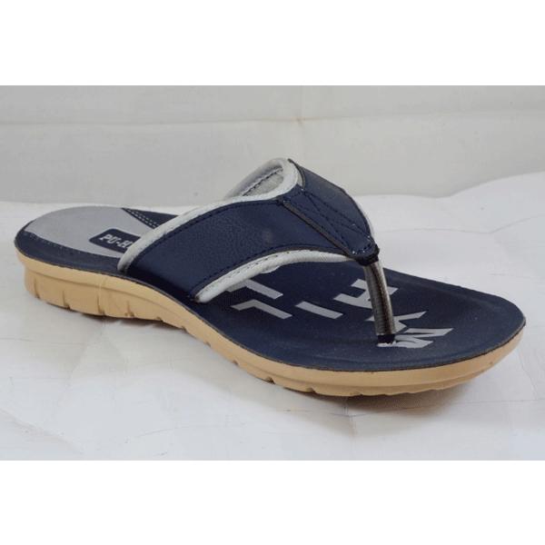 PU Hills 7 To 10 Size v - shape Slipper Men Grey Blue