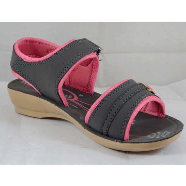 PU Hills 5 To 8 Women Sandal Grey Pink
