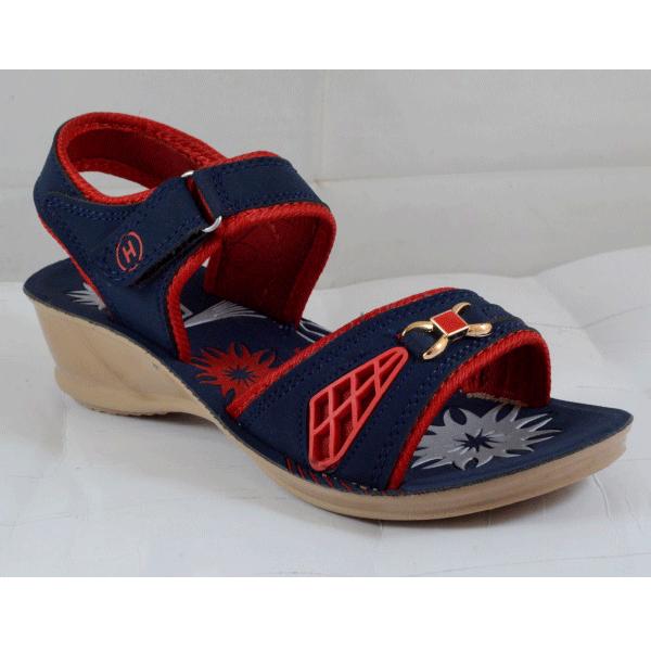 PU Hills 5 To 8 Women Sandal Blue Red
