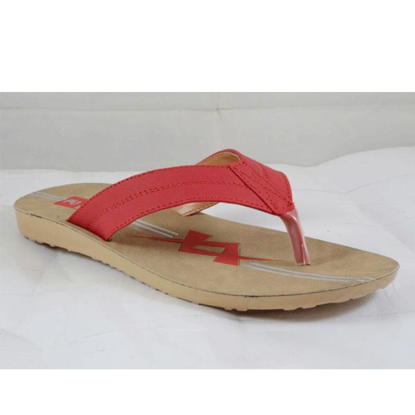PU Hills 5 To 8 Size v - shape Women Slipper Red
