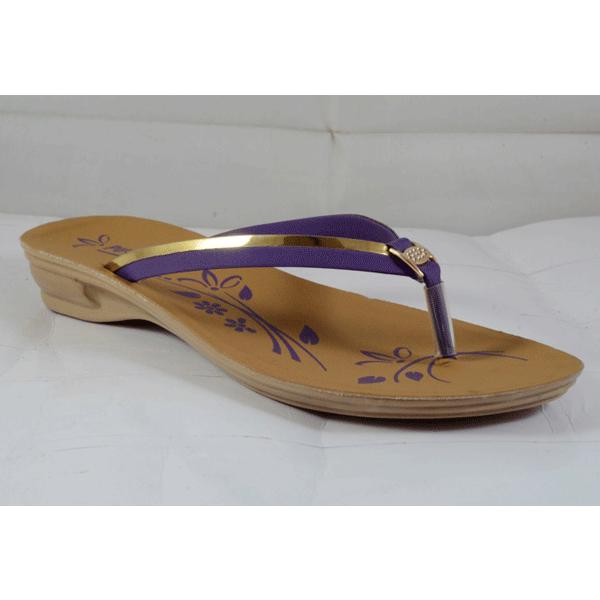 PU Hills 5 To 8 Size v shape Women Slipper Rexion Patti Purple