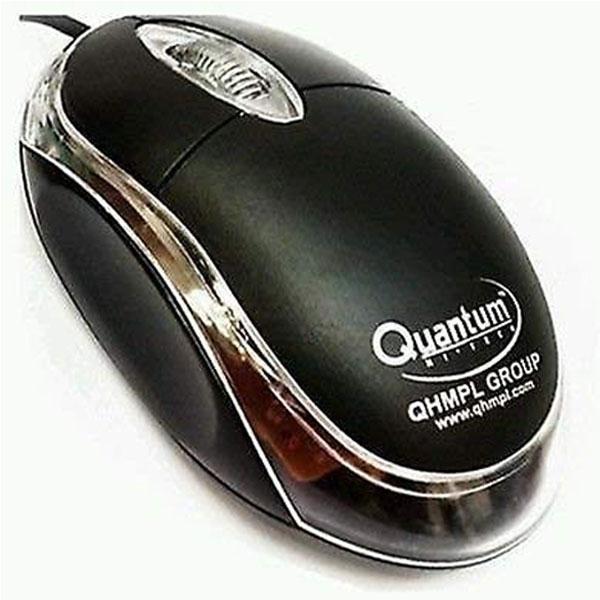 QUANTUM QHM222 Wired USB Optical Mouse (Black)