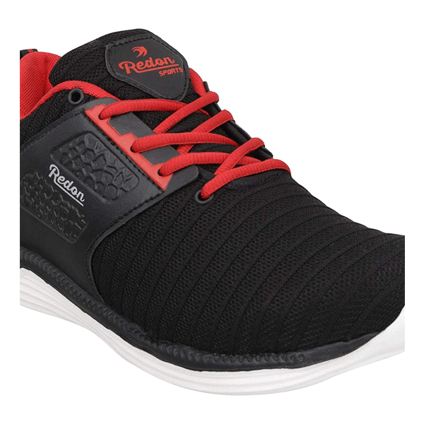 Redon Men's Sports Shoes/ Gym Shoes/ Athletic Shoes/ Stylish Sports Running Shoes (Black)
