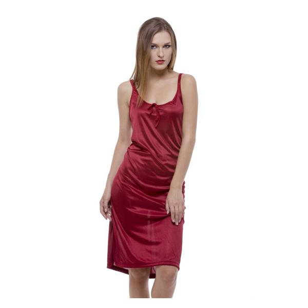 Ritzzy Satin Lycra Round Neck Women Casual Nighty Multi Color